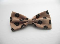 Brown Gear Fabric Hair Bow, $4.50 Fabric Hair Bows, Cute Bows, Trending Outfits, Brown, Unique Jewelry, Handmade Gifts, Accessories, Vintage, Etsy