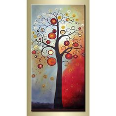 modern abstract art paintings | abstract tree paintingBuy Handmade Abstract Tree Modern Oil Painting ...