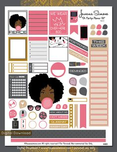 ✿•••✿•••✿•••✿•••✿ THIS ITEM IS DOWNLOAD ONLY✿•••✿•••✿•••✿•••✿ These are some cute Marilyn Monroe inspired weekly printable planner stickers. There is another volumes in addition to this one. Each with their own character. Hope you enjoy :)  This printable planner stickers are sized to fit the Erin Condren Planner but can be used in any planner of your choice. This is an instant download allows you to print at home as often as you like. The Zip File Includes: ✿PDF (Letter Size 8.5 X 11) ✿ JPG…
