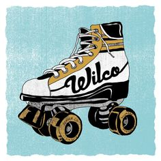 Wilco poster by Nate Duval