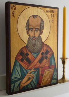 St Athanasius of Alexandria Hand-Painted Orthodox Icon