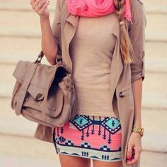 I love fashion and putting together nice outfits so that I always look put together and stylish. I always feel more confident when I have a nice outfit on. Aztec Skirt, Tribal Skirts, Aztec Dress, Look Fashion, Womens Fashion, Fashion Trends, Skirt Fashion, Street Fashion, Fashion Hub