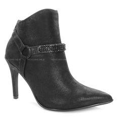 Bota Ramarim, Confeccionada em Material alternativo preto com brilho detalhe em pedras preta, uma bota muito elegante confortável, feito para as mulheres que querem arrasar com conforto, segurança, e muito glamour.