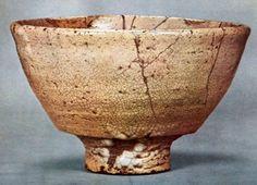 Korean Ido tea Bowl - 銘「筒井筒」 筒井順慶、豊臣秀吉、毘沙門堂伝来 個人蔵 重要文化財 高さ7.9cm 口径14.5cm 高台径4.7cm