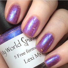 Lexi My P.I.C. available at www.myworldsparkles.com/lacquers.html and on Etsy www.etsy.com/shop/MyWorldSparklesStore  $8.00  #nailpolish, #nails, #followme, #indienails, #indienailpolish, #supportindies, #lovepolish, #glitterbomb, #glitterpolish, #glitter