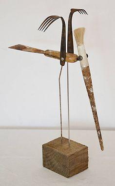 "Sculpture, ""crested bird"" The post Saatchi Art Artist Oriol Cabrero; Sculpture, ""crested bird"" appeared first on Money. Metal Yard Art, Metal Tree Wall Art, Scrap Metal Art, Found Object Art, Found Art, Arte Assemblage, Animal Original, Original Art, Welding Art"