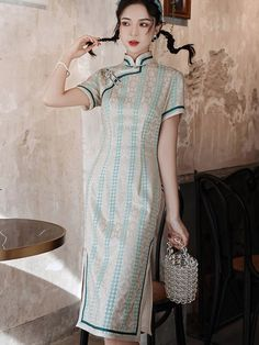 Shop 2021 Floral Lace Midi Cheongsam Qi Pao Dress at imallure.com. A wide collection of high quality qipao & cheongsam in various style. New arrivals daily. FREE INTERNATIONAL SHIPPING. Cheongsam, Mandarin Collar, Lace Overlay, Floral Lace, High Neck Dress, Short Sleeve Dresses, Casual, Free, Shopping