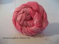 Rolled Fabric Flower tutorial