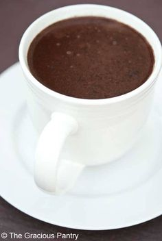 Clean Eating Coconut Hot Chocolate