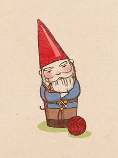 knitting gnome? why not. by Sara Harvey