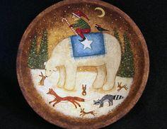 Christmas Folk Art Primitive Hand Painted by RavensBendFolkArt