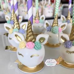 Unicorn Cake Pops! | Unicorn Themed Cake Pops | Pinterest ...