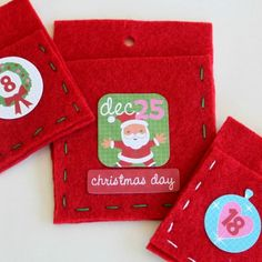 Felt Pocket Christmas Advent Calendar