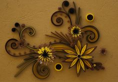 Quilled scrollwork