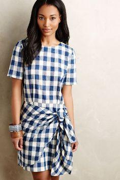 Dropwaist Gingham Dress - anthropologie.com