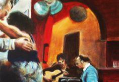 #Tanzlokal 2 #Tangoargentino #Milonga #Acryl auf #Leinwand, 50 x 70 cm
