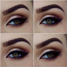 Natural eye makeup look.