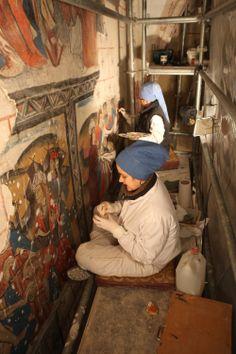 Restauração de Pintura Mural IPCE http://defender.org.br/artigos/la-conservacion-restauracion-arte-o-ciencia/