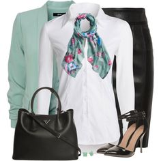 Joules Wensley Duck Egg Blue by daiscat on Polyvore featuring moda, NIC+ZOE, ASOS, Prada, Joules, Burberry and Kate Spade