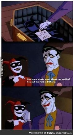 Harley Quinn and the Joker❤ ah I remember and love this episode! And I love Harley&the Joker god****it! Marvel Dc, Harley Quenn, Dc Comics, Nananana Batman, Hq Dc, Mundo Comic, Im Batman, Batman Cartoon, Dc Memes