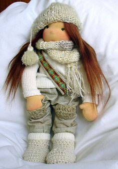 Rebecca 14 waldorf doll by Annelidolls on Etsy