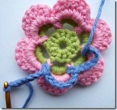 Simply yet awesome. Crochet Flower