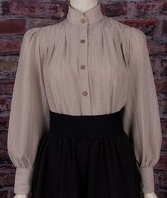 Frontier classic tan Annie Blouse. Old west ladies clothing.