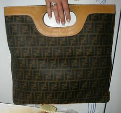 Authentic Large Fendi Vintage Zucca FF Canvas Shopper Hand Tote Sac $1100 | eBay