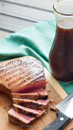 This pineapple teriyaki marinade is my absolute favorite way to prepare tuna steaks, but you can also use it on salmon or chicken, or even as a salad dressing!