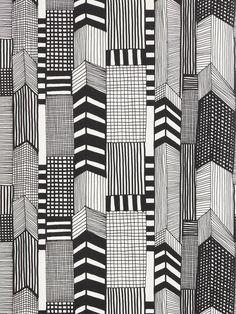 Buy Black / White, 14111 Marimekko Ruutukaava Wallpaper from our Wallpaper range at John Lewis & Partners. Textures Patterns, Print Patterns, Floral Patterns, Paper Patterns, Doodle Patterns, White Patterns, Illustration Simple, Pattern Illustration, Walpaper Black