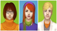 Sim-request forraddiatorwho asked for Scooby Doo characters.Note: Velma is packaged without her glasses, download them here. Daphne is packaged without the scarf, download it here. (I included green recolor in the archive)I've uploaded Shaggy earlier here.Scooby can be found here.DOWNLOAD (mediafire)DOWNLOAD (dropbox)