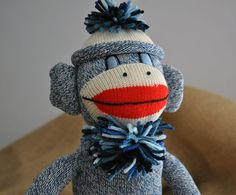 Pair this blue guy with the pink sock monkey for a bridal gift!! $32.00