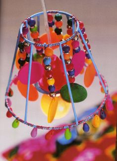 Crafts made with lampshade frames make your own ghost lampshade tiny lampshade base decorated with fimo beads and colored wireuld be done with keyboard keysfo Choice Image