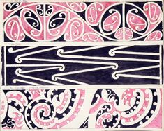 "Godber, Albert Percy, :[Drawings of Maori rafter patterns]. and, ""Pitau-a-Manaia"". Pattern Paper, Pattern Art, Print Patterns, Maori Art, Tattoo Maori, Maori Patterns, Maori People, Maori Designs, Henna Body Art"