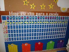 Quadro de aniversario Periodic Table, Diagram, Organization, Attitude, Attendance Board, Kids Activity Ideas, Teaching Supplies, Cute Ideas, Childhood Education