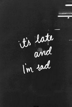 """""""The hour is late. Probably past midnight. I can't sleep. My thoughts just keep going, a circle with no beginning and no end. I'm sad."""" Thus happened last night Sad Quotes, Life Quotes, Qoutes, Deep Quotes, Quotable Quotes, Daily Quotes, Beau Message, Sad Pictures, I Cant Sleep"""
