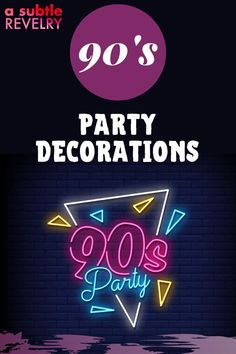 Are you interested to have 90s party decorations? Everyone loved the 90s for one reason or another and these party ideas are sure to hit close to home for anybody. Check this pin! #90sparty #90sdecoration #90s 90s Party Decorations, Diy Party Hats, Party Hacks, Party Ideas, Funky Hats, Love The 90s, Colorful Nail Art, Diy Wax, Balloon Backdrop