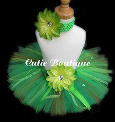 Green Shamrock St Patrick's Day Tutu Headband by CutiesBoutique, $29.00
