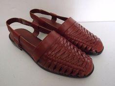 St. John's Bay Women's Huarache Shoes Sz 6, Brown Leather NWOT #StJohnsBay #Slingbacks #Casual