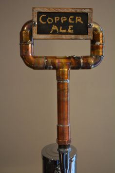 Copper Pipe Tap Handle Industrial Beer Tap by CabinFeverCraft