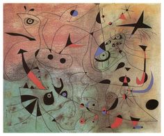 JOAN MIRO (1893-1983) Constellation: The Morning Star, 1940 (Gouache and Turpentine Paint on Paper)