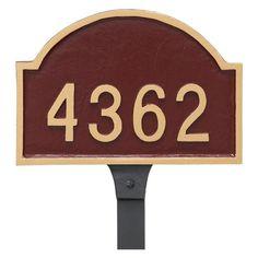 Montague Metal Dover Arch Petite Address Sign Lawn Plaque