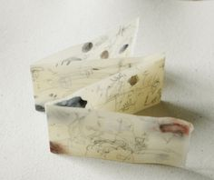 'Summer Slowly Unfolding' / folded beeswax book -by missouribendstudio