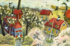 """""""The best place to live"""" by Ilon Wikland Art And Illustration, Photography Illustration, Illustrations Posters, Art Photography, Inspirational Artwork, Cool Sketches, Inspiration For Kids, Childrens Books, Images"""