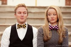 adorable engagement photos. And with bowties...bowties are cool
