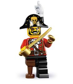 Lego Minifigure Pirate Captain
