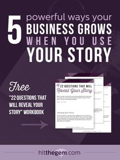 *FREE* Workbook >> We're flooded with information. The only way to shine through the mess is to utilize the story behind how you got here because people can copy your ideas, they can imitate your products and even steal your words, but no one else can replicate the dynamics of your story.