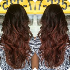 #balayagesombre #hairislife #joico #schwarzkopfusa #igoraroyal #redbrownhair…