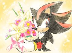 Shadow and Flowers by Drawloverlala
