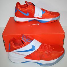 Nike-Zoom-KD-IV-4-Team-Orange-Men-Shoe-Size-11-White-Creamsicle-DS-Durant